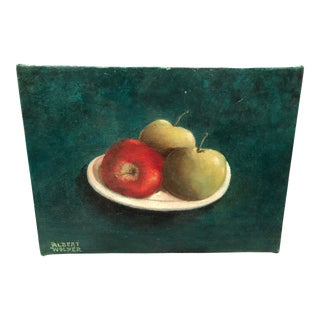 1990s Still Life Oil on Canvas For Sale