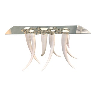 Contemporary Style Tusk Console Table For Sale