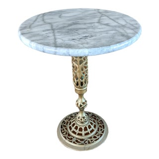 20th Century Marble and Brass Drinks Table For Sale
