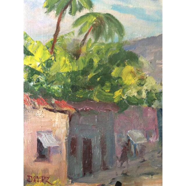Original Signed 1920s Mexican Village Landscape - Image 6 of 10