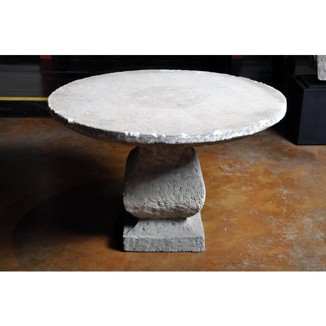 19th Century Limestone Garden Table For Sale - Image 4 of 13