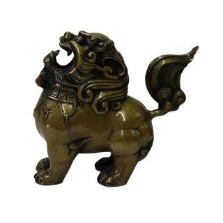 Chinese Oriental Fine Bronze Metal Foo Dog Display Figure