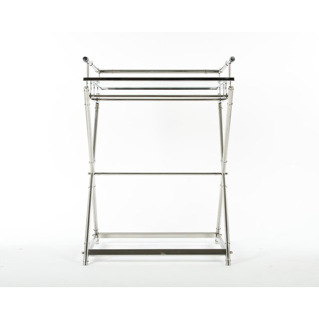 Mid-Century glass top bar cart. The bar cart measure 23.5 inches depth x 33 inches high x 20 inches width. From floor to...