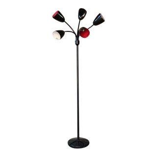 Vintage Five Arm Tulip Lamp For Sale