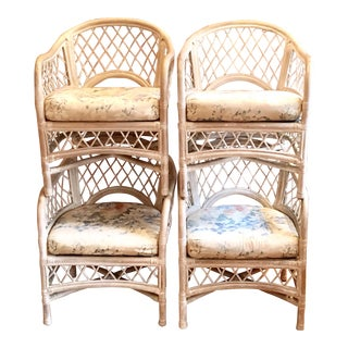 Vintage Wicker by Henry Link Arm Chairs - Set of 4 For Sale