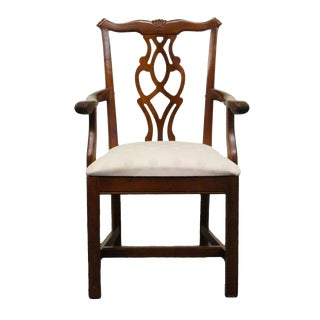 Late 20th Century Vintage Cresent Furniture Chippendale Arm Chair For Sale