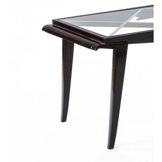 Art Deco Maxime Old Documented Mahogany Refined Coffee Table For Sale - Image 3 of 6