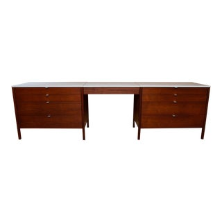 Florence Knoll Three Piece Vanity & Chest of Drawers For Sale