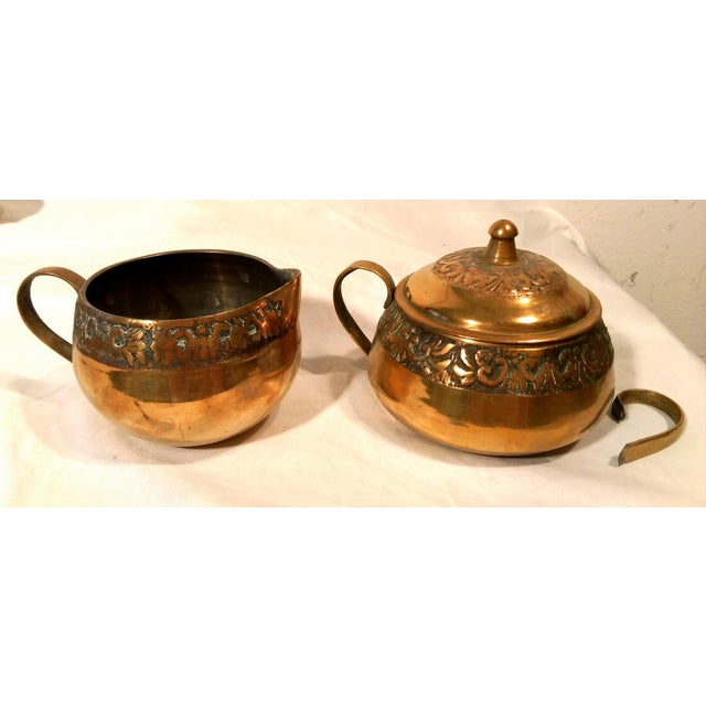 Brass Sea Tail Tea Set- Service for 6 - Image 8 of 9