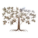 Image of Vintage Curtis Jere Mid Century Tree of Life Wall Sculpture For Sale