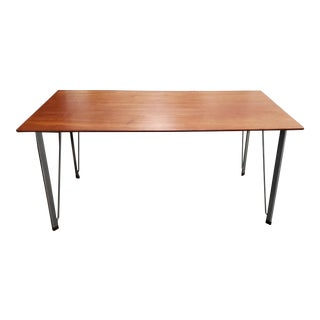 Arne Jacobsen Danish Modern Walnut & Chrome Desk C.1960s For Sale