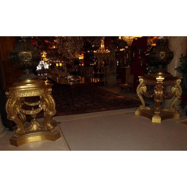 Antique Pair of Magnificent Pedestals - Image 3 of 7