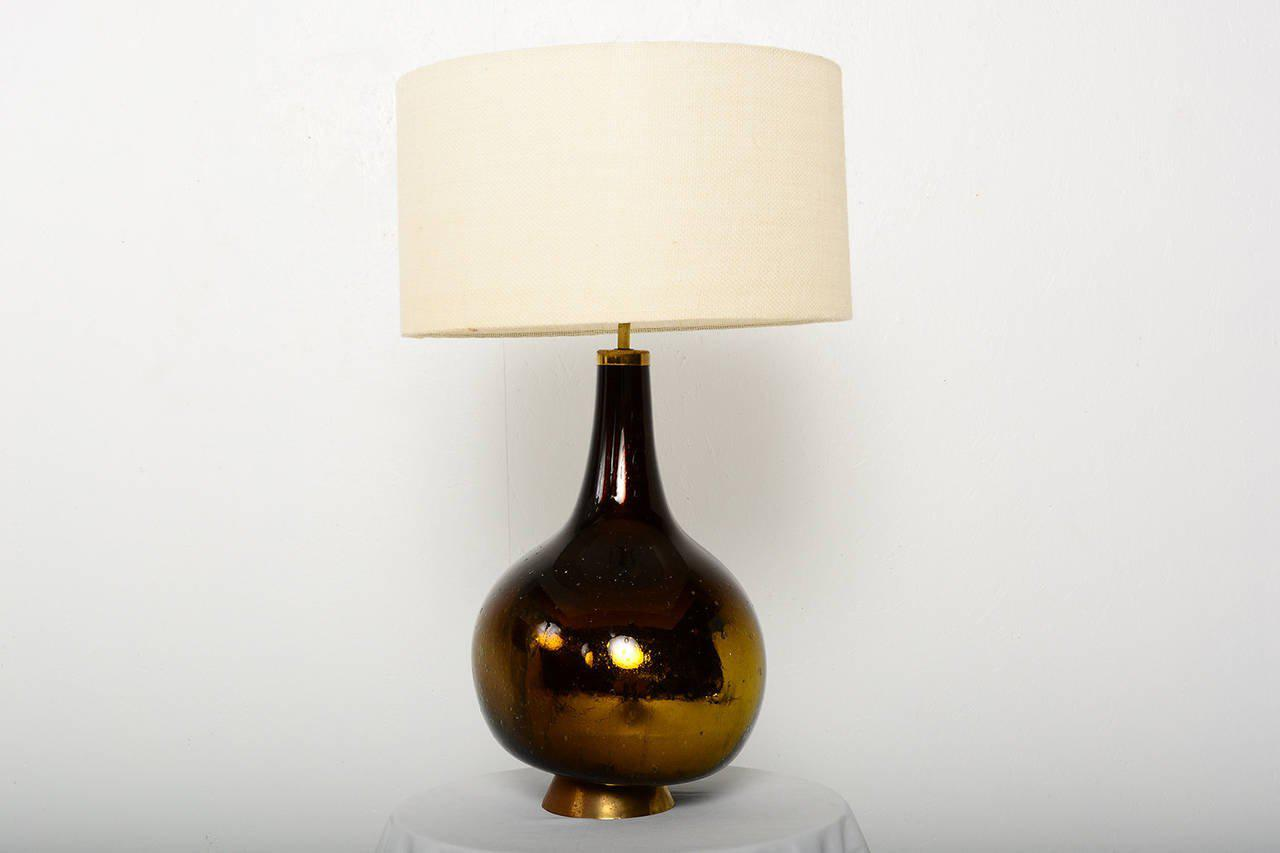 World Class Gold And Yellow Mercury Glass Table Lamp Decaso