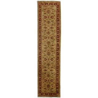 RugsinDallas Peshawar Hand Knotted Wool Runner - 2′6″ × 10′5″ For Sale