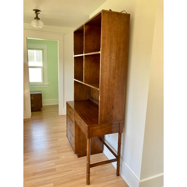 Campaign Late 20th Century Dixie Campaign Desk With Hutch For Sale - Image 3 of 13