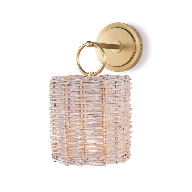 Nantucket Sconce in Natural Brass For Sale In Detroit - Image 6 of 6