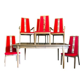 Mid Century Modern Kroehler Dining Set - 7 Pieces For Sale