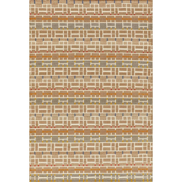 2010s Schumacher Patterson Flynn Martin Gropius Hand Woven Sisal Geometric Rug For Sale - Image 5 of 5