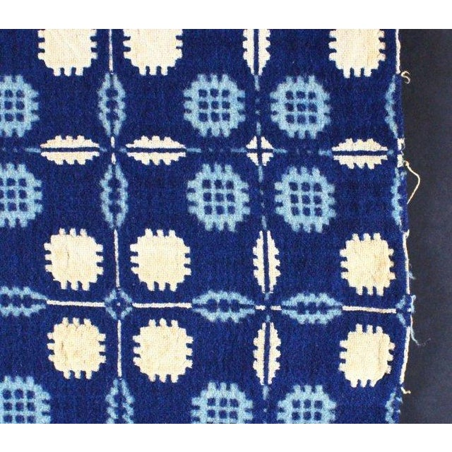 1936 Blue & White Coverlet Sample For Sale - Image 4 of 8