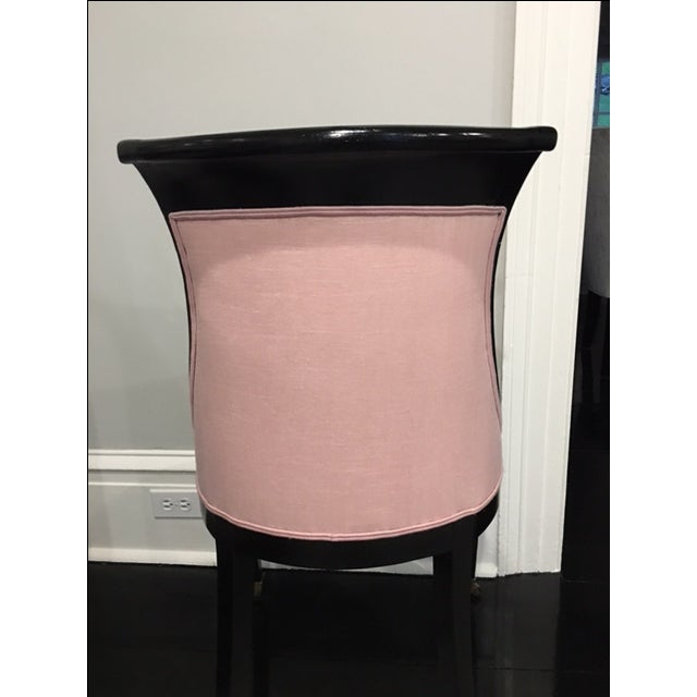 Pink 19th Century Ebonized Chair - Image 6 of 8