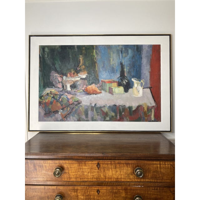 Mid 20th Century Abstract Original Oil Still Life Painting, Framed For Sale - Image 13 of 13
