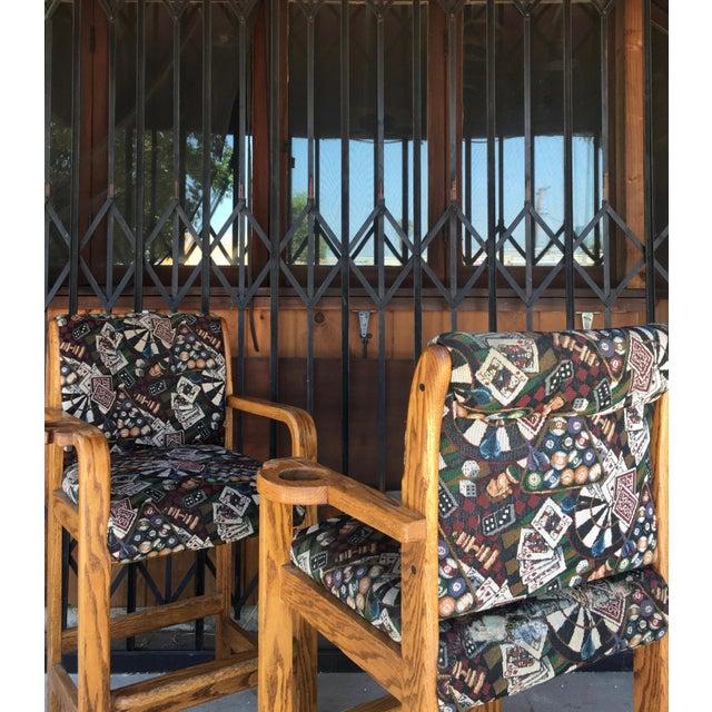 Mid-Century Modern Vintage Mid Century Barstools- A Pair For Sale - Image 3 of 13