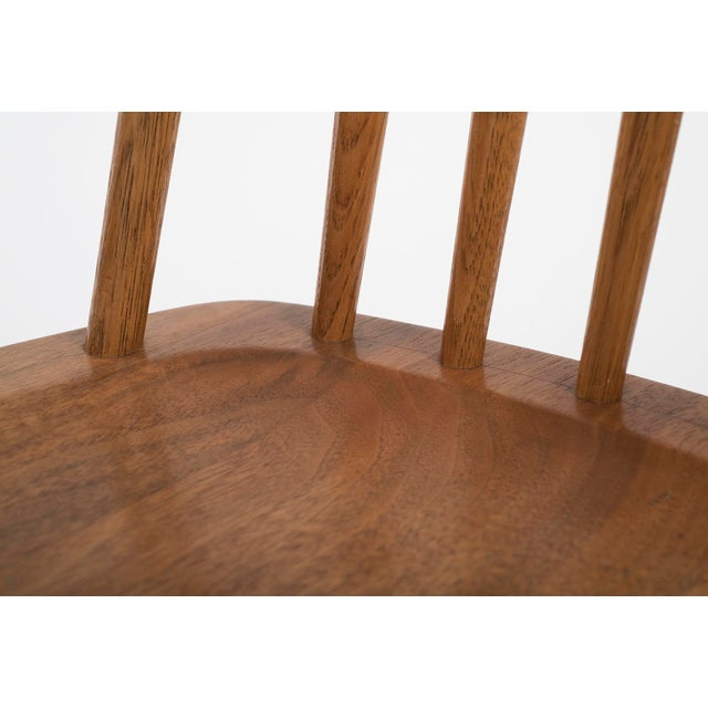 Brown Set of Six Early George Nakashima New Chairs, United States, 1958 For Sale - Image 8 of 13