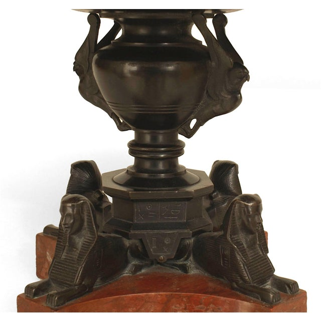 """An Italian Neo-Classic """"Grand Tour"""" Bronze Tazza Resting on Sphinx Figures For Sale - Image 4 of 5"""