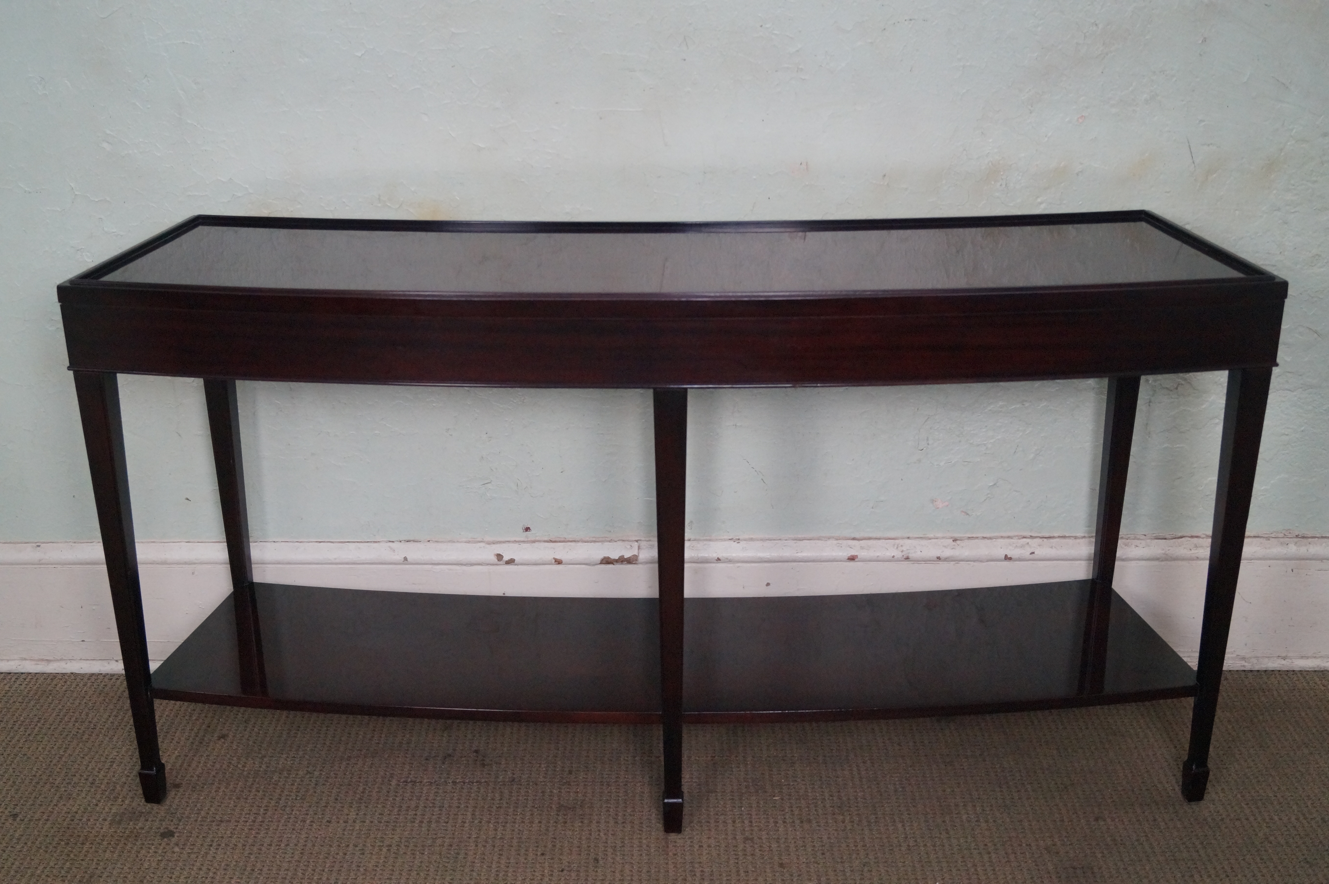 Baker Barbara Barry Java Mahogany Curved Console Table   Image 4 Of 10