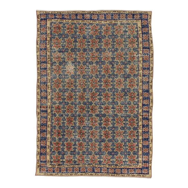 Vintage Decorative Turkish Rug - 4′8″ × 6′8″ For Sale