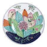 Image of Tobacco Leaf Hand Painted Ceramic Wall Plate Ready to Hang With Brackets For Sale