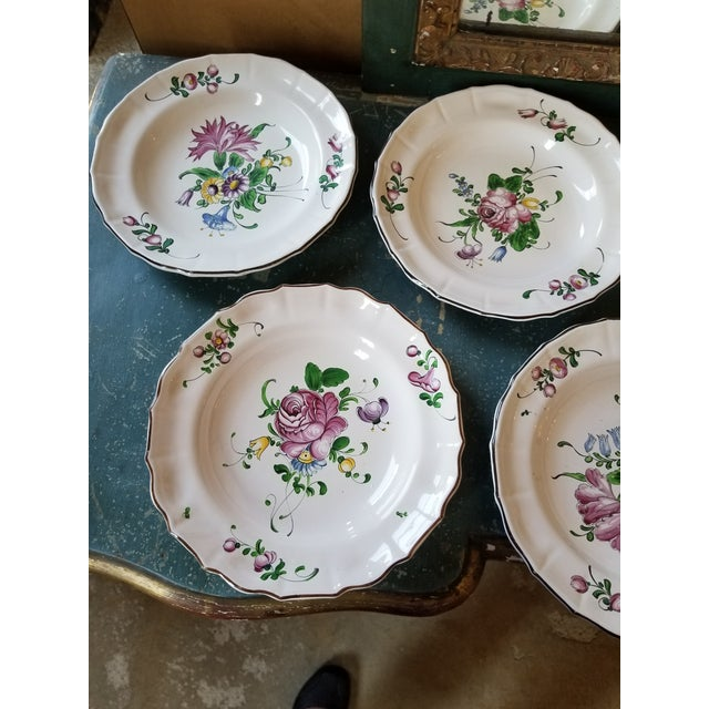 Beautiful hand painted late 20th century French Faience serving Bowls.
