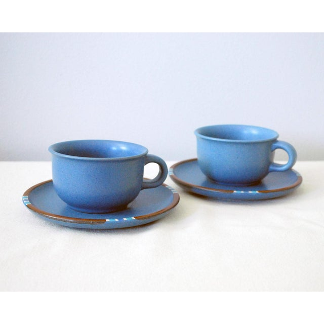 Ceramic Vintage Dansk Mesa Blue Cup and Saucer - a Pair For Sale - Image 7 of 7
