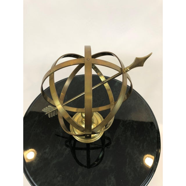 1970s Neoclassical Brass Armillary For Sale - Image 5 of 10