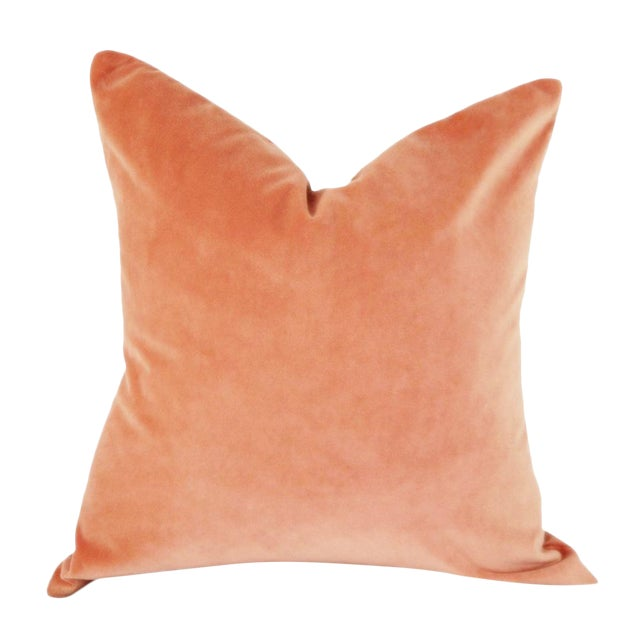 Coral Velvet Pillow Cover For Sale
