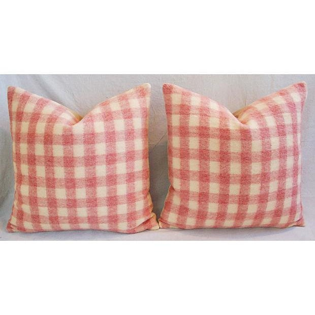 Custom Scottish Plaid Virgin Wool Pillows - A Pair - Image 8 of 8