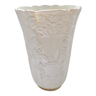 "Lenox Usa Holiday Hostess Large Vase 10.75"" X 7.25"" For Sale"
