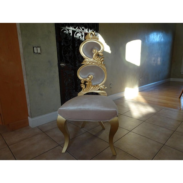 Metal Ivory & Gold Italian Baroque Dining Set For Sale - Image 7 of 8