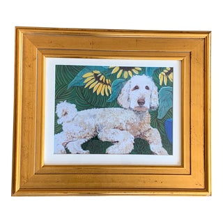 Contemporary Labradoodle Dog Print by Judy Henn For Sale