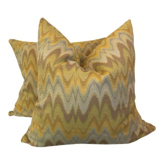 "Schumacher ""Florentine Bargello"" 22"" Pillows"