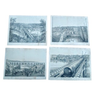 18th Century New York City Construction Lithographs - Set of 4 For Sale