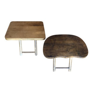 1950s Danish Modern Miniature Wooden Stools - a Pair For Sale