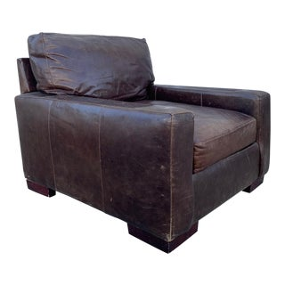 1960s Vintage Leather Lounge Chair For Sale