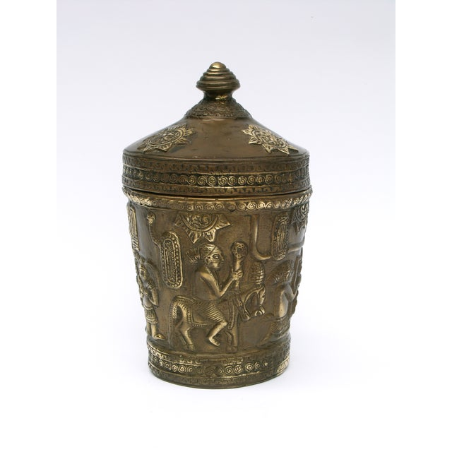 Decorative Indonesian Bronze Jar - Image 2 of 6