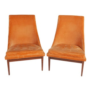 "Vintage Original Lawrence Peabody ""Slipper Chair"" for Richardsons / Nemschoff — Pair For Sale"