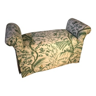 Botanical Pattern Upholstered Bench