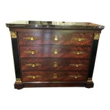 Image of Vintage Marble Top Chest of Drawers For Sale