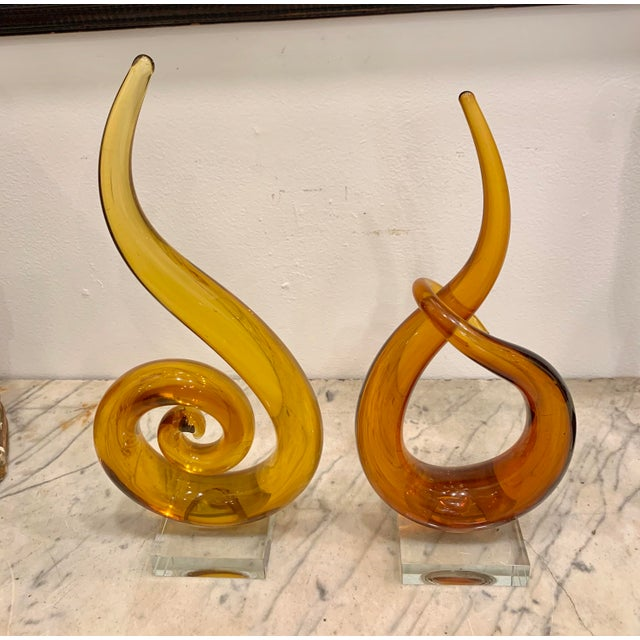 1970s Venetian Murano Glass Sculptures - a Pair For Sale - Image 5 of 6
