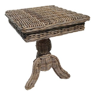 Nautical Wicker Side Table For Sale