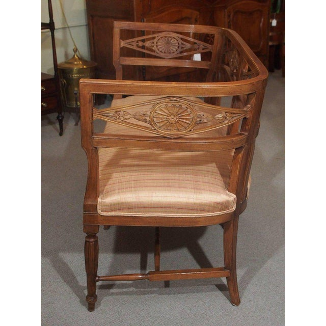 Antique French Fruitwood Settee, Directoire Style For Sale In New Orleans - Image 6 of 6
